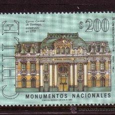 Sellos: CHILE 1135*** - AÑO 1992 - MONUMENTOS - ARQUITECTURA - EDIFICIO CENTRAL DE CORREOS. Lote 33746628