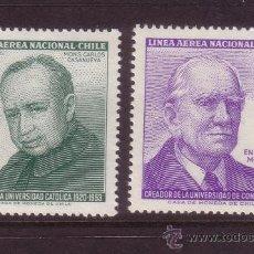 Sellos: CHILE 302/03*** - AÑO 1964 - ANIVERSARIOS - PERSONAJES. Lote 36128934