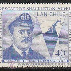 Sellos: CHILE 361, 50 ANIVERSARIO DEL RESCATE DE SHACKLETON EN EL POLO SUR POR EL AVIADOR PARDO, NUEVO ***. Lote 36596021