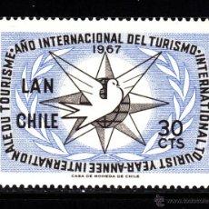 Sellos: CHILE AEREO 244** - AÑO 1967 - AÑO INTERNACIONAL DEL TURISMO. Lote 41377125