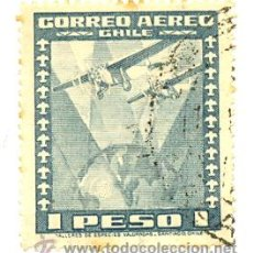 Sellos: 2-CHILE38AE. SELLO USADO CHILE. YVERT Nº 38 AEREO. AVIONES. Lote 41579424