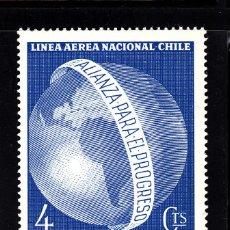 Sellos: CHILE AEREO 217** - AÑO 1963 - HOMENAJE AL PRESIDENTE KENNEDY - ALIANZA PARA EL PROGRESO . Lote 41581608