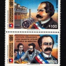 Sellos: CHILE 1068/69** - AÑO 1991 - CENTENARIO DE LA REVOLUCION DE 1891. Lote 43996791
