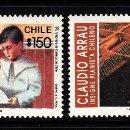 Sellos: CHILE 1140/41** - AÑO 1992 - MÚSICA - HOMENAJE AL PIANISTA CLAUDIO ARRAU. Lote 158315182