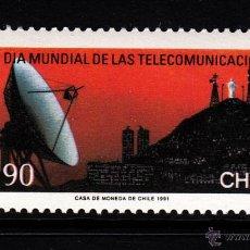Sellos: CHILE 1040** - AÑO 1991 - DIA MUNDIAL DE LAS TELECOMUNICACIONES. Lote 44064944