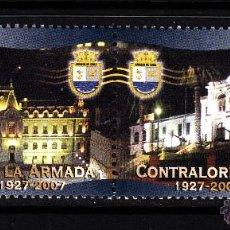 Sellos: CHILE 1767/68** - AÑO 2007 - 80º ANIVERSARIO DE LA CONTRALORIA DE LA ARMADA. Lote 44064983