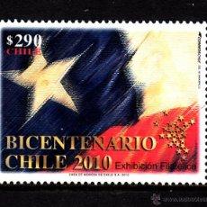 Sellos: CHILE 1965** - AÑO 2010 - BICENTENARIO DE LA INDEPENDENCIA CHILENA, EXPOSICION FILATELICA. Lote 44148737