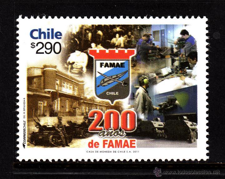 CHILE 1991** - AÑO 2011 - BICENTENARIO DE FAMAE (Sellos - Extranjero - América - Chile)