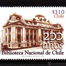 Sellos: CHILE 2029** - AÑO 2013 - BICENTENARIO DE LA BIBLIOTECA NACIONAL DE CHILE. Lote 194975475