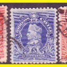 Sellos: CHILE 1901 CRISTÓBAL COLÓN IVERT Nº 42 A 46 (O). Lote 45779350