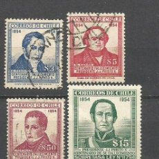 Sellos: CHILE YVERT NUM. 255/8 SERIE COMPLETA USADA. Lote 47508597