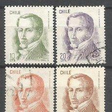 Sellos: CHILE YVERT NUM. 457/462 SERIE COMPLETA USADA. Lote 47515151