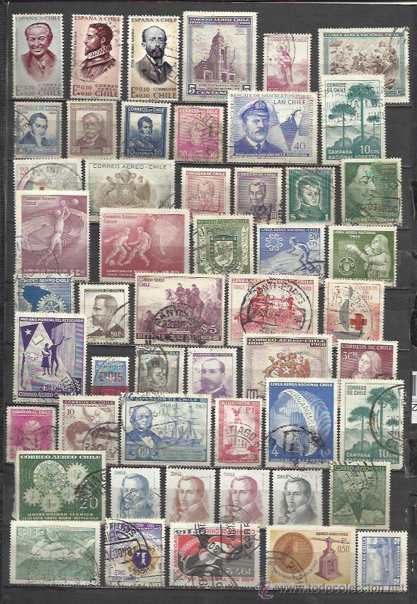 6024-SELLOS CHILE AÑOS 50S SIN REPETIDOS,SIN TASAR,IMAGEN REAL,AMERICA SUR. (Sellos - Extranjero - América - Chile)