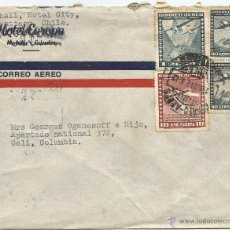 Sellos: 1942 - HISTORIA POSTAL CORREO AÉREO - CHILE. Lote 52438437
