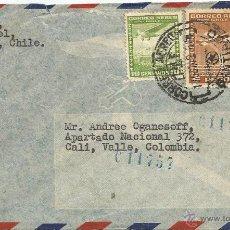 Sellos: HISTORIA POSTAL CORREO AÉREO - CHILE. Lote 52438538