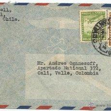Sellos: HISTORIA POSTAL CORREO AÉREO - CHILE. Lote 52438593