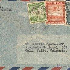 Sellos: HISTORIA POSTAL CORREO AÉREO - CHILE. Lote 52438602