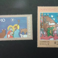 Sellos: SELLOS DE CHILE. NAVIDAD. DIBUJOS INFANTILES. YVERT 610/11. SERIE NUEVA.. Lote 52457289