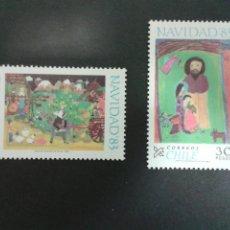 Sellos: SELLOS DE CHILE. NAVIDAD. DIBUJOS INFANTILES. YVERT 641/2. SERIE NUEVA.. Lote 52457291