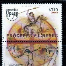 Sellos: CHILE. 2014. SERIE: AMERICA UPAEP.LIDERES Y HEROES NACIONALES **. MNH. Lote 52808570