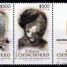 Francobolli: CHILE. 2014. SERIE: CULTURA CHINCHORRO .PAREJA + VIÑETA **. MNH. Lote 52808663