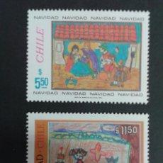 Sellos: SELLOS DE CHILE. DIBUJOS INFANTILES. YVERT 585/6. SERIE COMPLETA NUEVA SIN CHARNELA.. Lote 53264600