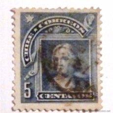Sellos: SELLOS CHILE 1905. USADO. COLON.. Lote 53501104