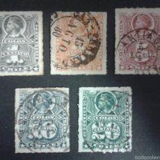 Briefmarken - SELLOS DE CHILE. COLÓN. YVERT 16/20. SERIE COMPLETA USADA. - 54851651