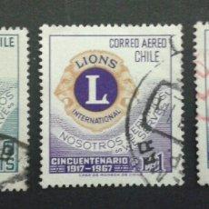 Sellos: SELLOS DE CHILE. LIONS INTERNATIONAL. YVERT 320 + A 240/1. SERIE COMPLETA USADA.. Lote 54855302