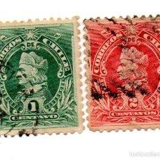 Sellos: CHILE 1901-N.45/46. Lote 56409530
