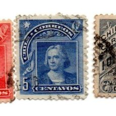 Sellos: CHILE 1905-N.59-61-62. Lote 56411995