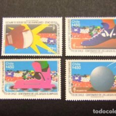 Sellos: CHILE 1996 CENTENAIRE COMITE OLYMPIQUE DU CHILI YVERT Nº 1372 / 75 ** MNH. Lote 62710368