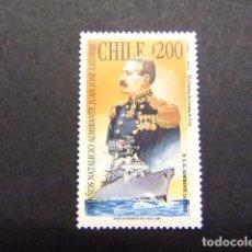 Sellos: CHILE 1996 ALMIRANTE JUAN JOSÉ LATORRE YVERT Nº 1398 ** MNH NÚMERO DE ARTÍCULO: 405051666. Lote 62710516