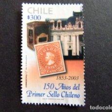 Sellos: CHILE 2003 150 AÑOS PRIMER SELLO CHILENO YVERT Nº 1660 º FU . Lote 62713188