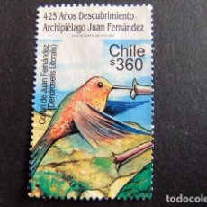 Sellos: CHILE 2000 COLIBRI OISEAUX YVERT Nº 1519 º FU . Lote 62723116