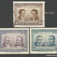 Sellos: CHILE CORREO AEREO YVERT NUM. 218/220 SERIE COMPLETA USADA. Lote 67759469