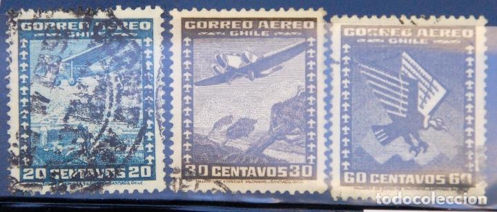 LOTE DE 3 SELLOS DE CHILE. USADOS (Sellos - Extranjero - América - Chile)