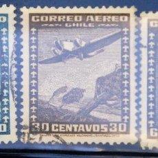 Sellos: LOTE DE 3 SELLOS DE CHILE. USADOS. Lote 71651055