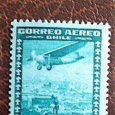 Francobolli: CHILE. A 32 AVIÓN SOBRE SANTIAGO. 1934/38. SELLOS NUEVOS Y NUMERACIÓN YVERT.. Lote 75572623
