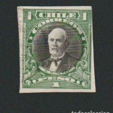 Sellos: CHILE.1915.27.-1 PESO.YVERT 121A.USADO.. Lote 78068785