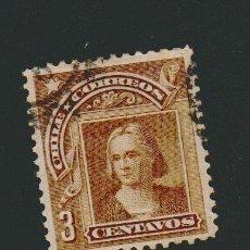 Sellos: CHILE.1905-1908.-3 CENT.YVERT 57.USADO. Lote 78260645