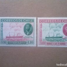 Sellos: CHILE , YVERT Nº 178 179 **, SERIE COMPLETA , 1940 , BARCOS. Lote 83136284