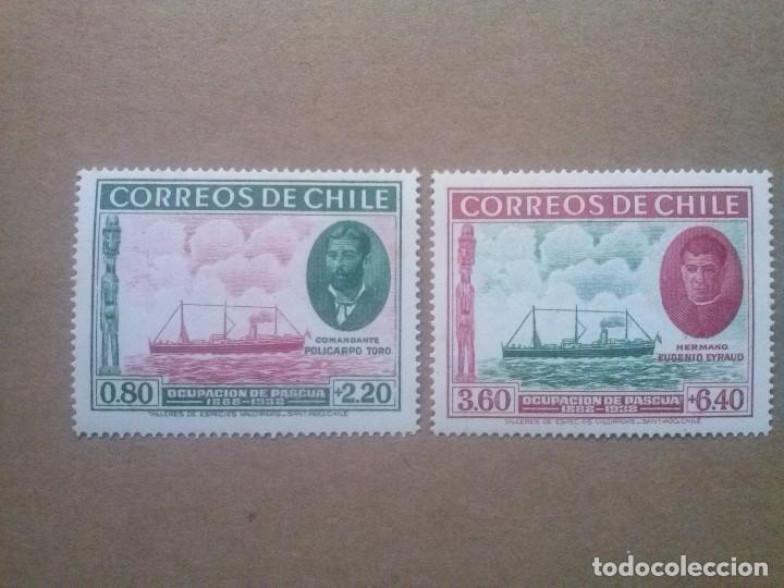 CHILE , YVERT Nº 178 179 **, SERIE COMPLETA , 1940 , BARCOS (Sellos - Extranjero - América - Chile)