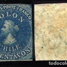 Sellos: CHILE 1861 COLON NUEVO FILIGRANA INVERTIDA . Lote 96784139