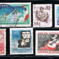 Sellos: CHILE - LOTE DE 10 SELLOS - VARIOS (USADO) LOTE 4. Lote 105076027