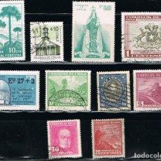 Sellos: CHILE - LOTE DE 10 SELLOS - VARIOS (USADO) LOTE 9. Lote 107261431