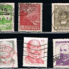 Sellos: CHILE - LOTE DE 10 SELLOS - VARIOS (USADO) LOTE 12. Lote 114622231