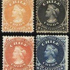 Sellos: CHILE 1867 COLON . Lote 121017078