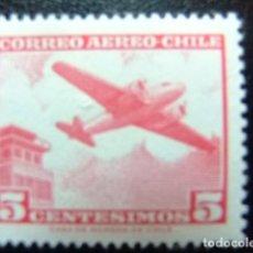 Sellos: CHILE 1960 BIMOTEUR ET TOUR DE CONTRÔLE YVERT PA 204 B ** MNH. Lote 118724207