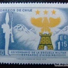 Sellos: CHILE 1972 ESCUELA MILITAR YVERT 379 ** MNH. Lote 118726375